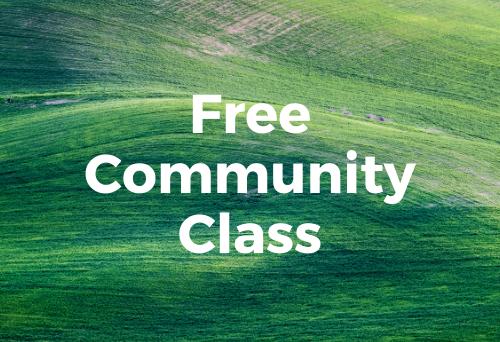 Free Community Class, Outdoor Yoga